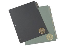 Foil Stamped Index Tabs