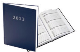 Hardcover Calendar journal