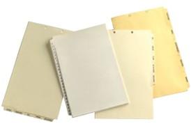 Custom Legal Paper Index Tabs