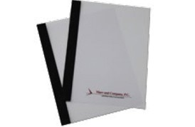 Clear Poly Report Covers with Paper Spine