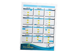Wall Calendars – Single Sheet